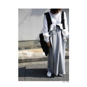 サロペット ワンピース レディース 綿 綿100% 裏毛 変形サロペスカート・12月28日20時〜再販。「G」##メール便不可|antiqua|10