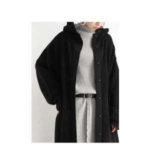 アウター コート ノーカラー 長袖 レディース フードニットコート・9月28日20時〜発売。##メール便不可|antiqua|11