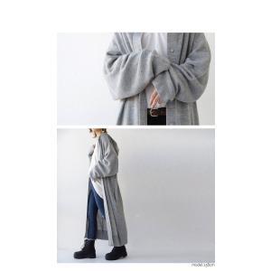 アウター コート ノーカラー 長袖 レディース フードニットコート・9月28日20時〜発売。##メール便不可|antiqua|19