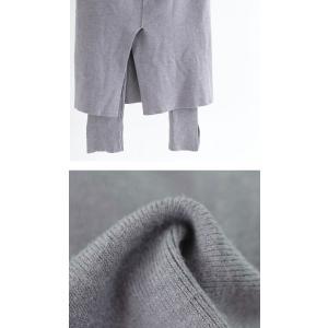 ボトムス スカート タイトスカート レディース 綿 綿100 レギンスドッキングスカート・10月9日20時〜発売。##メール便不可|antiqua|07