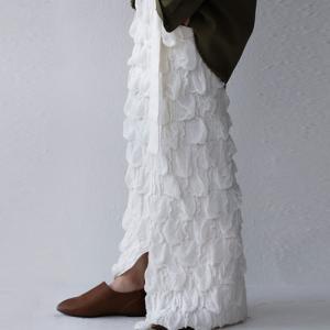 ボトムス スカート ニット レディース タイト ベルト付き 立体編みタイトスカート・10月5日20時〜発売。##メール便不可|antiqua