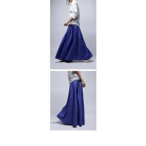 レディース ボトムス スカート 綿 ロングフレアスカート・再再販。##×メール便不可! antiqua 14