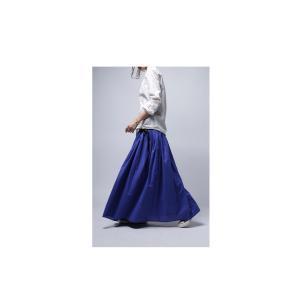 レディース ボトムス スカート 綿 ロングフレアスカート・再再販。##×メール便不可! antiqua 05