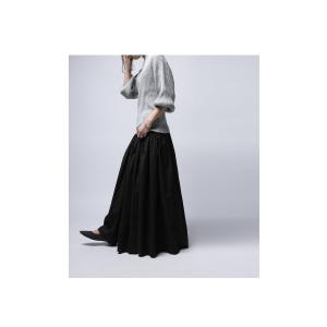 レディース ボトムス スカート 綿 ロングフレアスカート・再再販。##×メール便不可! antiqua 09