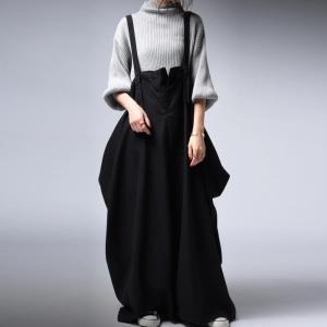 ワンピース サロペット スカート ロング サロペスカート・再販。##メール便不可 antiqua