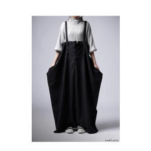 ワンピース サロペット スカート ロング サロペスカート・再販。##メール便不可 antiqua 03