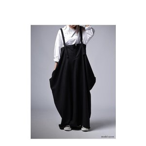 ワンピース サロペット スカート ロング サロペスカート・再販。##メール便不可 antiqua 08