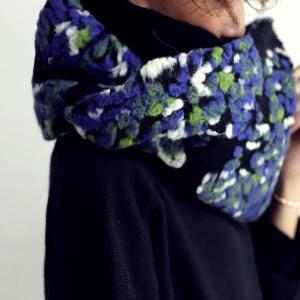 スヌード 大人 お洒落 羊毛 花柄 刺繍 異素材ボリュームスヌード・1月9日20時〜再再販。##メール便不可|antiqua|11