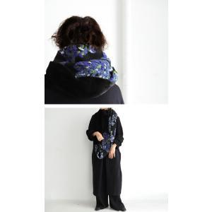 スヌード 大人 お洒落 羊毛 花柄 刺繍 異素材ボリュームスヌード・1月9日20時〜再再販。##メール便不可|antiqua|09