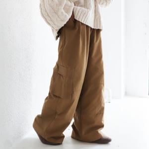 ボトムス パンツ レディース 綿 綿100 ワイド セットアップ ワイドカーゴパンツ・1月11日20時〜発売。##メール便不可|antiqua