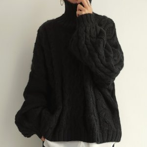 ニット レディース トップス 長袖 セーター ハイネック・10月10日0時〜発売。メール便不可 antiqua