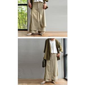 まるでスカートのような上品な佇まい。デザインワイドパンツ・1月12日20時〜再再販。##メール便不可 antiqua 11