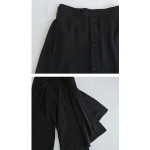 まるでスカートのような上品な佇まい。デザインワイドパンツ・1月12日20時〜再再販。##メール便不可 antiqua 09