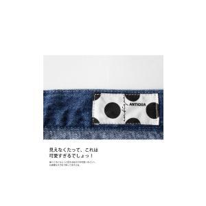 ボトムス パンツ デニム タック モード クロスデザインデニム・再販。「G」##メール便不可|antiqua|11