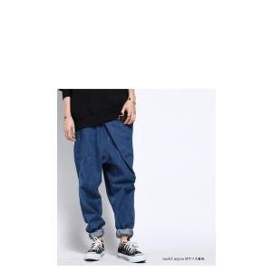 ボトムス パンツ デニム タック モード クロスデザインデニム・再販。「G」##メール便不可|antiqua|15