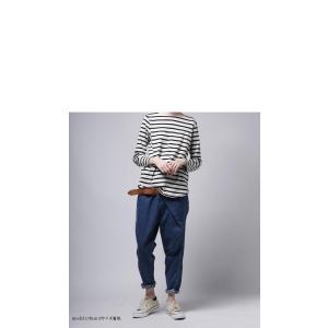 ボトムス パンツ デニム タック モード クロスデザインデニム・再販。「G」##メール便不可|antiqua|06