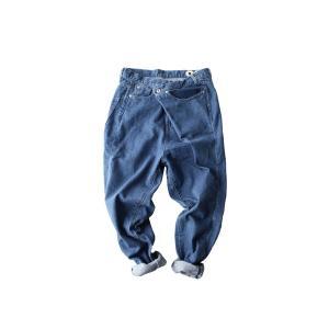 ボトムス パンツ デニム タック モード クロスデザインデニム・再販。「G」##メール便不可|antiqua|07