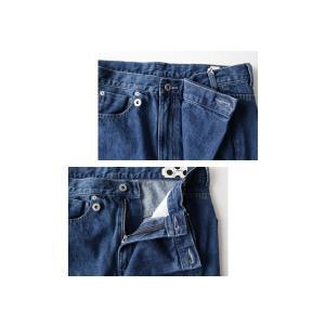 ボトムス パンツ デニム タック モード クロスデザインデニム・再販。「G」##メール便不可|antiqua|09