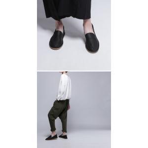 靴 スリッポン 本革 日本製 大人 極やわスリッポン・再販。##メール便不可|antiqua|14