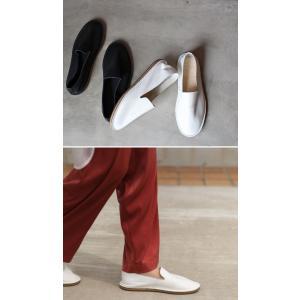 靴 スリッポン 本革 日本製 大人 極やわスリッポン・再販。##メール便不可|antiqua|03