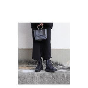 本革 ブーツ 日本製 ブラック 本革スクエア厚底ブーツ・再販。「G」##メール便不可|antiqua|11