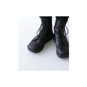 本革 ブーツ 日本製 ブラック 本革スクエア厚底ブーツ・再販。「G」##メール便不可|antiqua|12