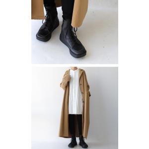 本革 ブーツ 日本製 ブラック 本革スクエア厚底ブーツ・再販。「G」##メール便不可|antiqua|13