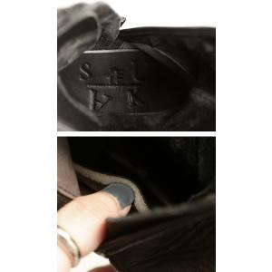 本革 ブーツ 日本製 ブラック 本革スクエア厚底ブーツ・再販。「G」##メール便不可|antiqua|09