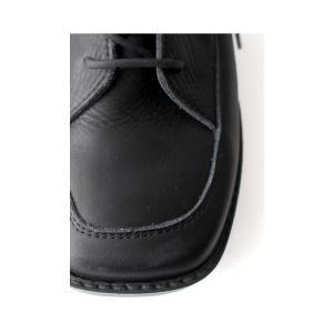 本革 ブーツ 日本製 ブラック 本革スクエア厚底ブーツ・再販。「G」##メール便不可|antiqua|10