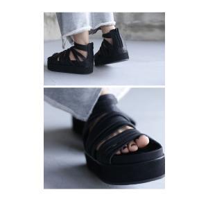 靴 シューズ サンダル 本革 日本製 レディース 厚底 プラットフォームサンダル・##メール便不可|antiqua|11