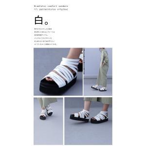 靴 シューズ サンダル 本革 日本製 レディース 厚底 プラットフォームサンダル・##メール便不可|antiqua|14