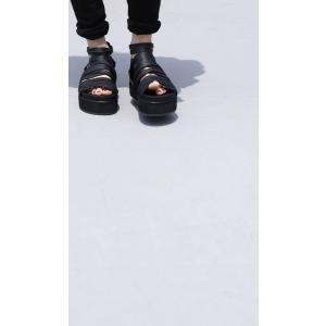 靴 シューズ サンダル 本革 日本製 レディース 厚底 プラットフォームサンダル・##メール便不可|antiqua|18