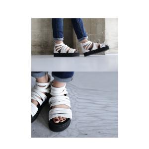 靴 シューズ サンダル 本革 日本製 レディース 厚底 プラットフォームサンダル・##メール便不可|antiqua|19