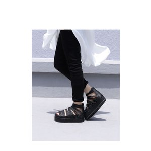 靴 シューズ サンダル 本革 日本製 レディース 厚底 プラットフォームサンダル・##メール便不可|antiqua|20