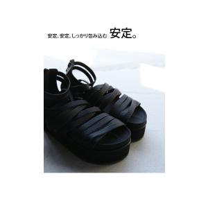 靴 シューズ サンダル 本革 日本製 レディース 厚底 プラットフォームサンダル・##メール便不可|antiqua|08