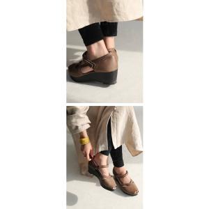 靴 サンダル レディース 本革 シューズ オープントゥ ベルト付きレザーサンダル・メール便不可|antiqua|14