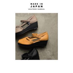 靴 サンダル レディース 本革 シューズ オープントゥ ベルト付きレザーサンダル・メール便不可|antiqua|15