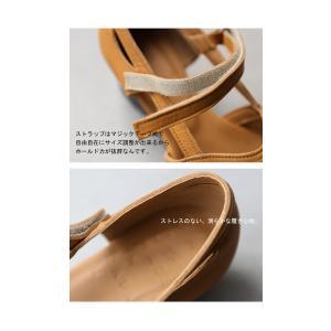 靴 サンダル レディース 本革 シューズ オープントゥ ベルト付きレザーサンダル・メール便不可|antiqua|10
