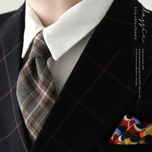 ネクタイ タイ チェック柄 チェック メンズ スーツ チェック柄ネクタイ・4月11日20時〜発売。メール便不可 antiqua
