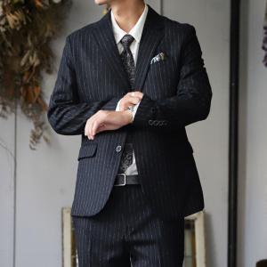 スーツ メンズ メンズスーツ 2点セット ストライプ ジャケット・8月20日0時〜発売。メール便不可|antiqua
