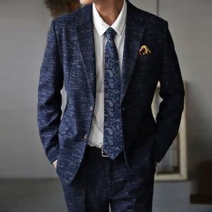 スーツ メンズ メンズスーツ 2点セット ツイード ジャケット・8月20日0時〜発売。メール便不可|antiqua