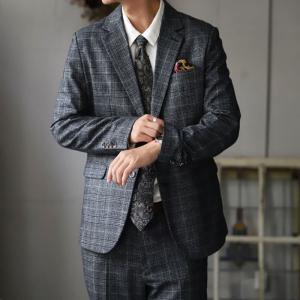 スーツ メンズ メンズスーツ 2点セット チェック ジャケット・8月20日0時〜発売。メール便不可|antiqua