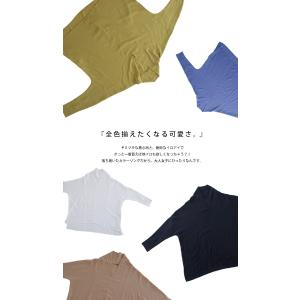 トップス シャツ 長袖 レディース Vネック スキッパー スキッパーシャツ・(50)メール便可|antiqua|20
