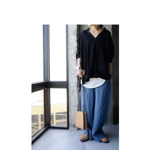 トップス シャツ 長袖 レディース Vネック スキッパー スキッパーシャツ・(50)メール便可|antiqua|04