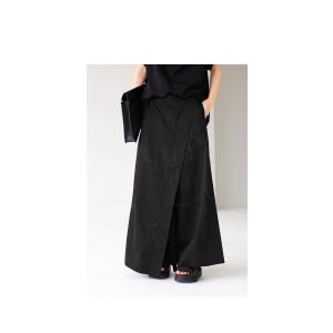 ボトム オリジナル パンツ デザイン 巻きスカート風パンツ・5月20日20時〜再再販。新色追加 メール便不可 antiqua 03