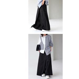 ボトム オリジナル パンツ デザイン 巻きスカート風パンツ・5月20日20時〜再再販。新色追加 メール便不可 antiqua 04