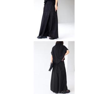 ボトム オリジナル パンツ デザイン 巻きスカート風パンツ・5月20日20時〜再再販。新色追加 メール便不可 antiqua 09