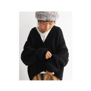 ニット綿 畦編み ドルマン カーデ キッズ コットン畦編みカーデ・10月9日20時〜再再販。「G」##メール便不可|antiqua|13