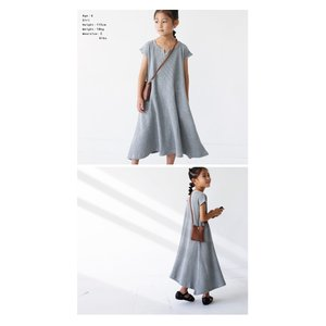 ワンピース アンティカ 子供服 半袖 ワッフル 女の子 ワッフルフレアワンピース。・6月15日20時〜発売。##メール便不可|antiqua|10