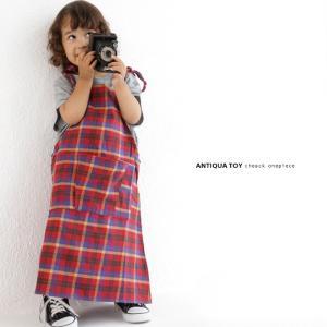 子供服 女の子 サロペット ワンピース ジャンパースカート チェックサロペット・5月25日20時〜再販。(30)メール便可|antiqua